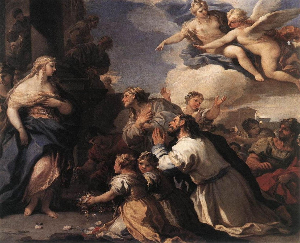 Luca Giordano Psyche Honoured by the People
